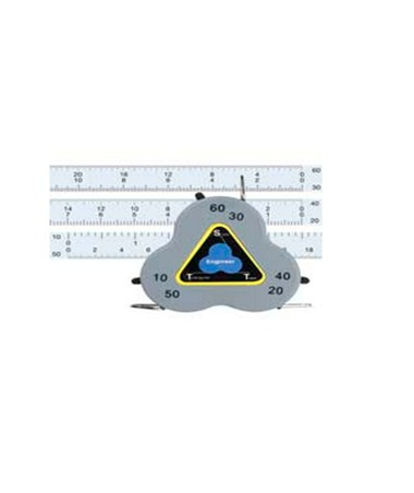 Triangular Scale Tape Three-Sided Measure Engineer CB020