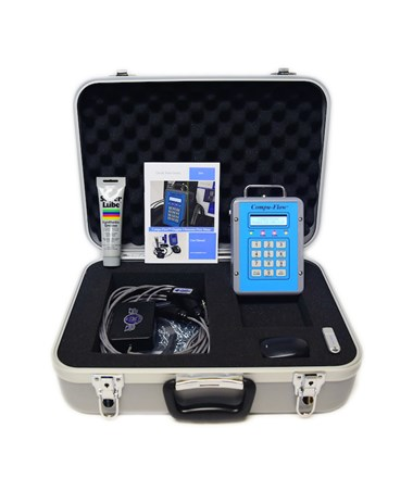Compu-Flow C6 Doppler Ultrasonic Portable Flow Meter w/ 4/20mA, Hi/Lo Alarms, RS 232, and Batch Control C6PM/CLTV6.4HP-Loaded
