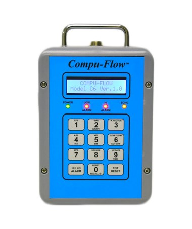 C6 Receiver w/ Portable, Standard Enclosure for Compu-Flow Doppler & Magnetic Flow Meter UFM C6PM