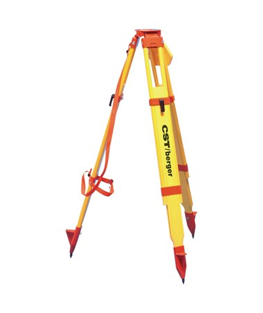 CST Berger Wood/Fiberglass Heavy Duty Max DualClamp Tripod - Orange CST60-WDF20MX-O