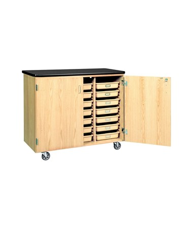 Diversified Woodcrafts Mobile Tote Tray Cabinet DIV4751K