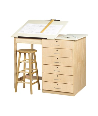 Diversified Woodcrafts Large Drafting Table with Drawers DIVDT-8A