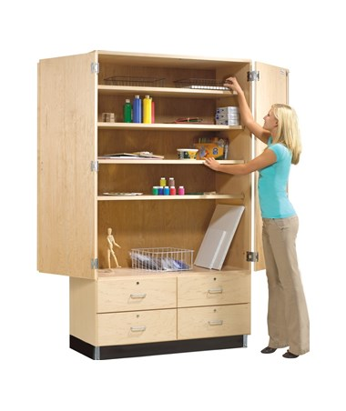Diversified Woodcrafts General Storage Cabinet with Drawers DIVGSC-8