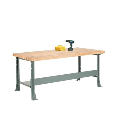 Diversified Woodcrafts Maple Top Steel Workbench DIVMLB-4310-