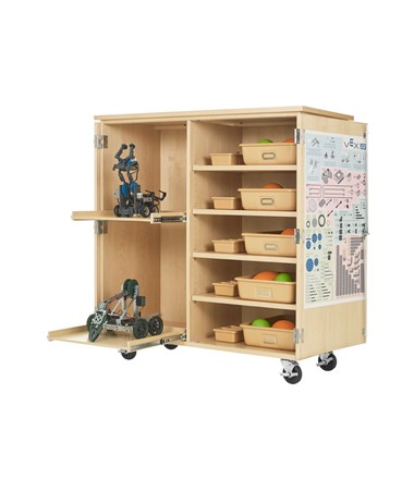 Diversified Woodcrafts Mobile Robotics Cabinet with Tote Trays DIVVXP-5024M
