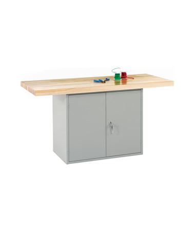 Diversified Woodcrafts Double-Door Steel Cabinet Workbench DIVWBD2-0V-