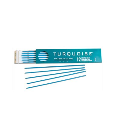 Prismacolor Turquoise Colored 2mm Lead E2376-6