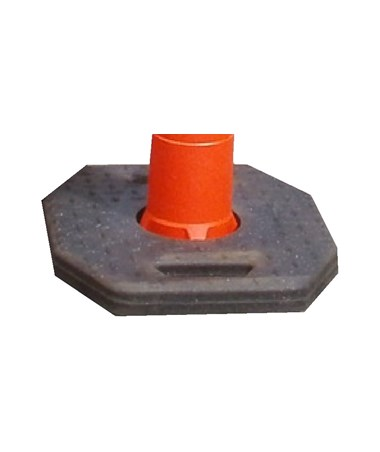 Rectangular Rubber Base for Eastern Metal RT-Series Channelizer EASRT-7022-742533