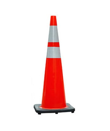 Eastern Metal TC2 Series Orange PVC Cone with Black Base EASTC2-18PO6-