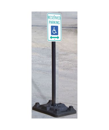 Eastern Metal UB-8400 Rubber Base With Galvanized Post EASUB-8432-UB-48G-