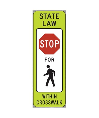 Eastern Metal VP-6500 In-Street Pedestrian Crosswalk Sign EASVP-6536-STOP-FB-