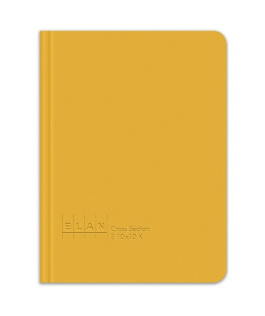 Elan King Size Cross Section Field Book, Yellow Hardbound Cover E10x10K-YEL