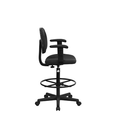 drafting chair with arms. flash furniture drafting chair with arms bt-659-blk-arms-gg l