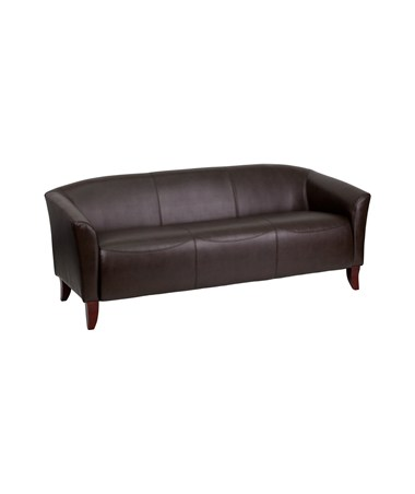 HERCULES Imperial Series Brown Leather Sofa [111-3-BN-GG] FLF111-3-BN-GG