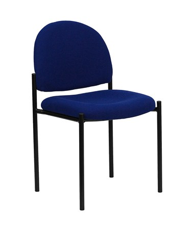 Navy Fabric Comfortable Stackable Steel Side Chair [BT-515-1-NVY-GG] FLFBT-515-1-NVY-GG