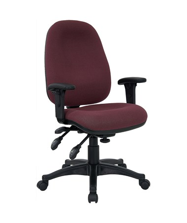 Mid-Back Multi-Functional Burgundy Fabric Swivel Computer Chair [BT-662-BY-GG] FLFBT-662-BY-GG