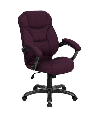 High Back Grape Microfiber Upholstered Contemporary Office Chair [GO-725-GRPE-GG] FLFGO-725-GRPE-GG