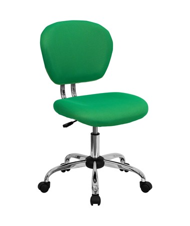 Mid-Back Bright Green Mesh Task Chair with Chrome Base [H-2376-F-BRGRN-GG] FLFH-2376-F-BRGRN-GG