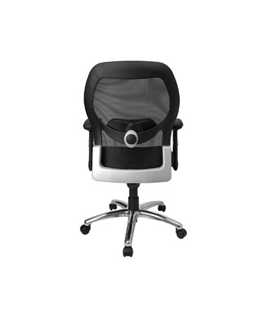 Superior Mid Back Super Mesh Office Chair With Black Fabric Seat And Knee Tilt  Control [LF W42 GG] FLFLF W42 GG
