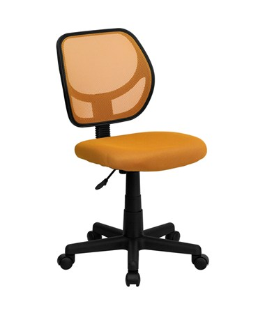 Mid-Back Orange Mesh Task Chair and Computer Chair [WA-3074-OR-GG] FLFWA-3074-OR-GG