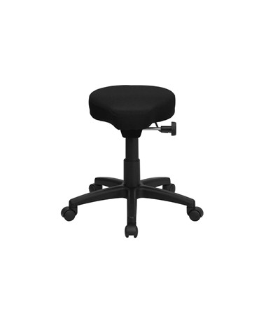 Flash Furniture Black Saddleseat Utility Stool With Height