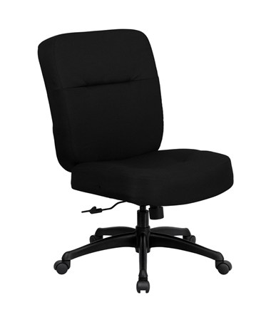 HERCULES Series 400 lb. Capacity Big & Tall Black Fabric Office Chair with Arms and Extra WIDE Seat [WL-723ATG-BK-GG] FLFWL-723ATG-BK-GG
