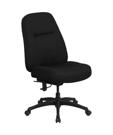 HERCULES Series 400 lb. Capacity High Back Big & Tall Black Fabric Office Chair with Extra WIDE Seat [WL-726MG-BK-GG] FLFWL-726MG-BK-GG