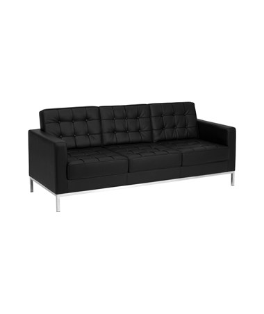 Fabulous Flash Furniture Zb Lacey 831 2 Sofa Bk Gg Hercules Lacey Series Contemporary Black Leather Sofa With Stainless Steel Frame Gmtry Best Dining Table And Chair Ideas Images Gmtryco