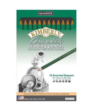 General's Kimberly Premium Graphite Drawing 12-Pencil Set G525-12A