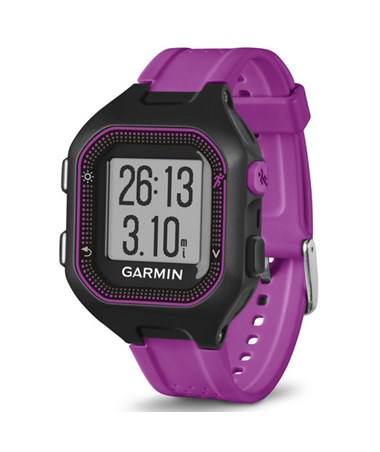 Garmin Forerunner 25 GPS Watch Small Black/Purple, Watch Only 010-01353-20