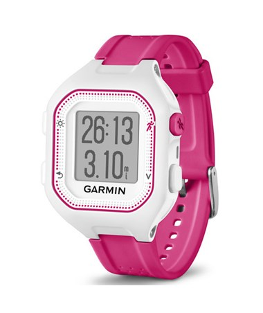 Garmin Forerunner 25 GPS Watch Small White/Pink, Watch Only 010-01353-21