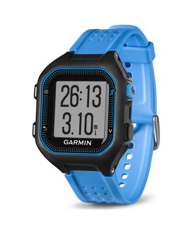 Garmin Forerunner 25 GPS Watch Large Black/Blue, Watch Only 010-01353-01