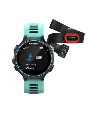 Garmin Forerunner 735XT GPS Watch Midnight Blue/Frost Blue Run Bundle 010-01614-13