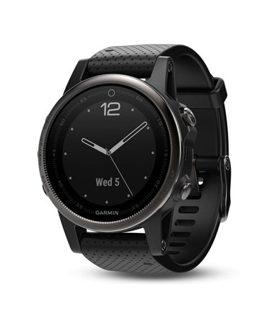 Garmin Fenix 5S GPS Watch Black with Black Band, Sapphire 010-01685-10