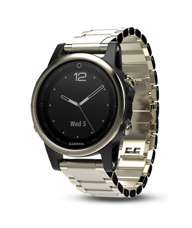 Garmin Fenix 5S GPS Watch Champagne with Metal Band, Sapphire 010-01685-14
