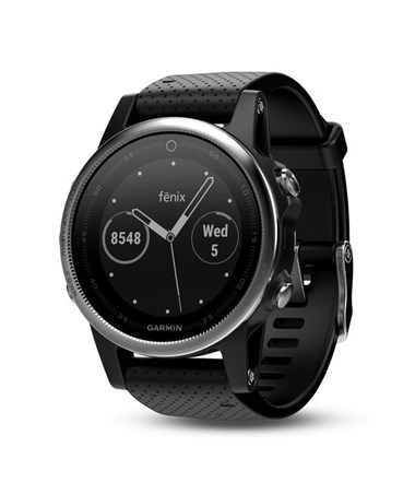 Garmin Fenix 5S GPS Watch Silver with Black Band, Watch Only 010-01685-02