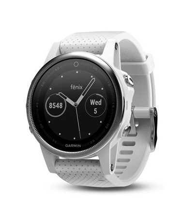 Garmin Fenix 5S GPS Watch White with Carrara White Band, Watch Only 010-01685-00