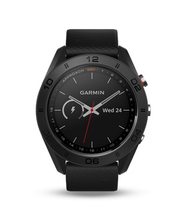 Garmin Approach S60 GPS Watch Premium with Black Leather Band 010-01702-03