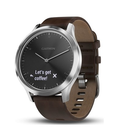 Garmin Vivomove HR Hybrid Smartwatch with Activity Tracking Premium Gold w/ Light Brown Leather Band, Small/Medium 010-01850-15