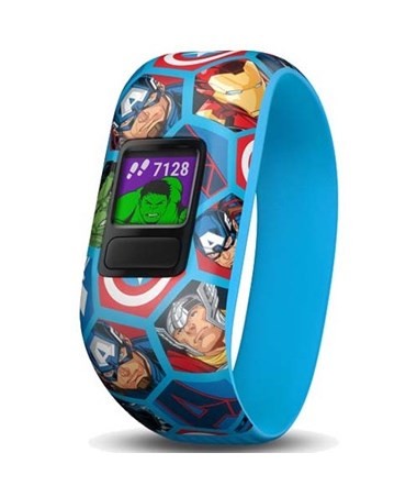 Garmin Vivofit Jr. 2 Activity Tracker w/ Stretchy Marvel Avengers Band 010-01909-22