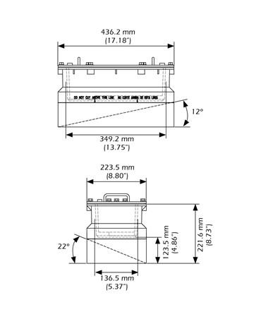 garmin airmar r111lh in-hull/pocket mount transducer gar010-11643-20