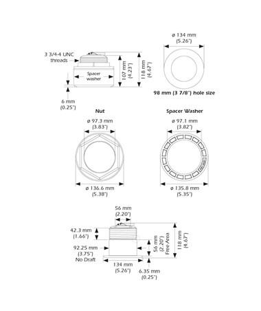 Garmin 010-11937-20 Airmar B175 Series Thru-Hull Mount Transducer