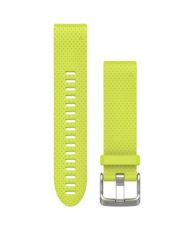 QuickFit 20 Watch Bands For Garmin GPS Watch Amp Yellow Silicone 010-12491-13