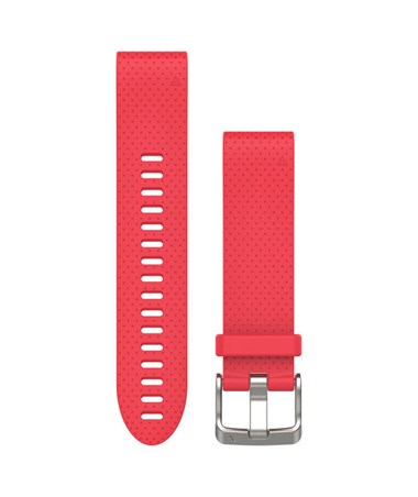 QuickFit 20 Watch Bands For Garmin GPS Watch Azalea Pink Silicone 010-12491-14