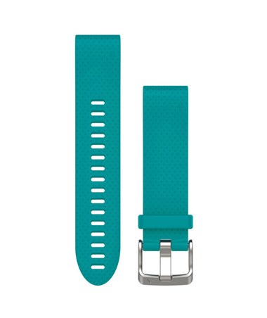QuickFit 20 Watch Bands For Garmin GPS Watch Turquoise Silicone 010-12491-11