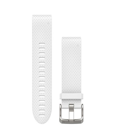 QuickFit 20 Watch Bands For Garmin GPS Watch White Silicone 010-12491-10