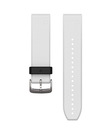 QuickFit 22 Watch Bands For Garmin GPS Watch White Silicone 010-12500-01