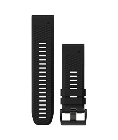 QuickFit 26 Watch Bands For Garmin GPS Watch Black Silicone 010-12517-00
