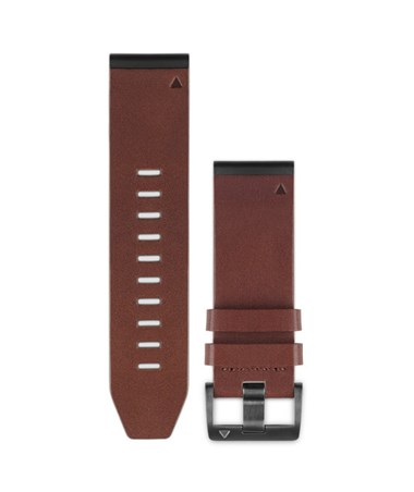 QuickFit 26 Watch Bands For Garmin GPS Watch Brown Leather 010-12517-04