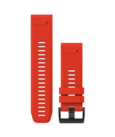 QuickFit 26 Watch Bands For Garmin GPS Watch Flame Red Silicone 010-12517-02